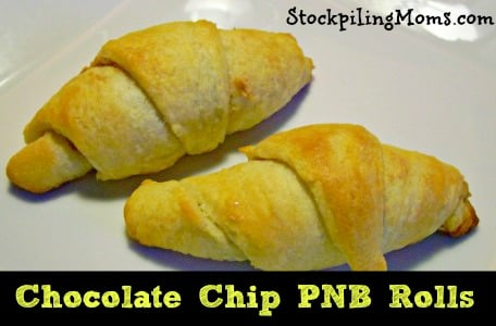 Chocolate Chip PNB Rolls are simple to make an the kids LOVE them!