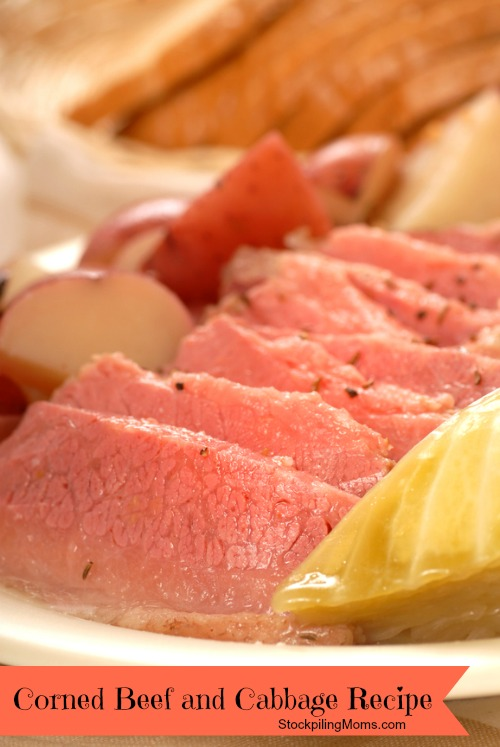 Delicious home made corned beef and cabbage dinner is one of my favorite dishes for St. Patrick's Day!