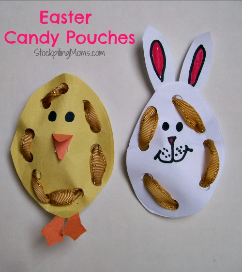 Easter Candy Pouches are a simple Easter Craft or Easter Basket Sweet Treat!