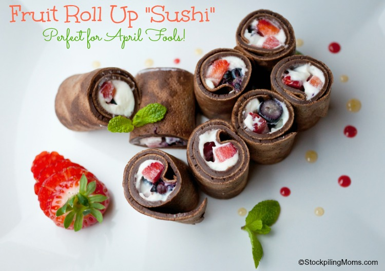 Fruit Rollup Sushi