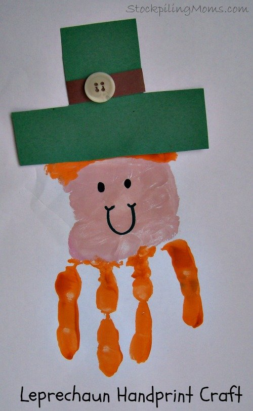 St. Patrick's Day Leprechaun Handprint Craft