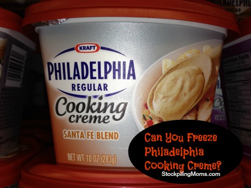 Can you freeze Philadelphia Cooking Creme?