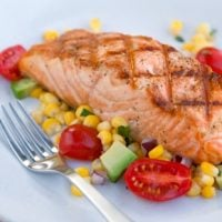 Grilled Salmon with Corn Salad