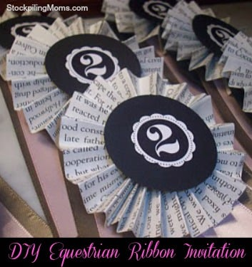 DIY Equestrian Ribbon Invitation