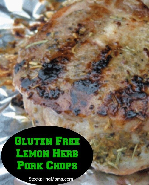 Gluten Free Lemon Herb Pork Chops is one of my families favorites. This is a great gluten free recipe!