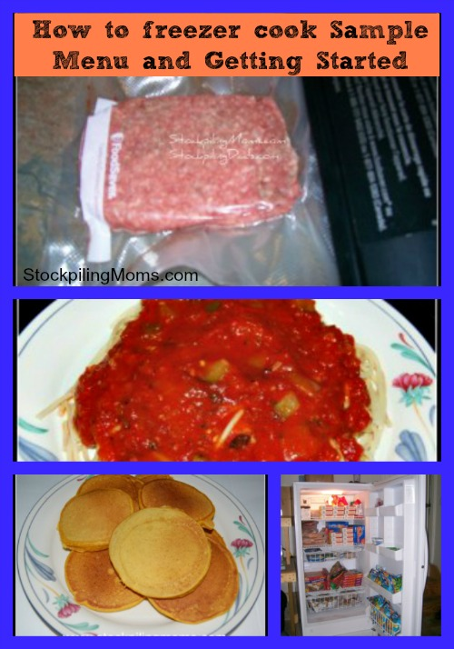 How to freezer cook -Sample Menu and Getting Started