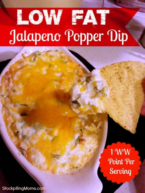 Low Fat Jalapeno Popper Dip not only tastes like a perfect recreation of the popular snack but satisfies at a low 1 Weight Watcher Point Per Serving