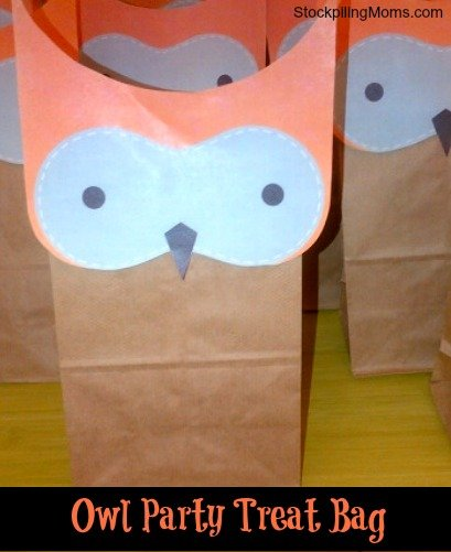 This cute owl treat bag is so easy and inexpensive to make!