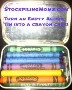 DIY Travel Crayon Case is perfect for Summer Vacation and Dining Out!