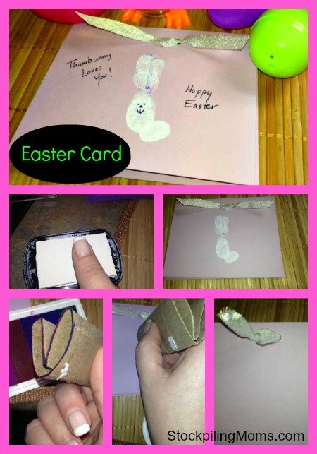 I love this thumb print Easter card for the Grandparents!