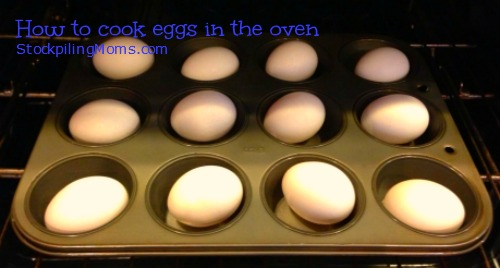 How to cook hard boiled eggs in the oven. This is a great tip that works every time!