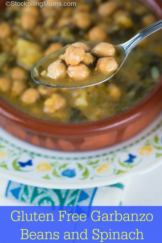 Gluten Free Garbanzo Beans and Spinach Recipe