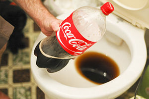 Can you clean a toilet with coke