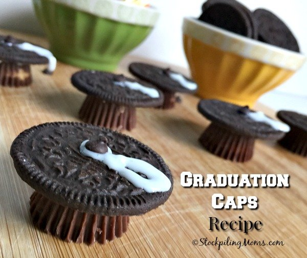 This easy Graduation Caps Dessert Recipe is perfect for a graduation party!
