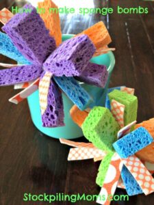 How to make sponge bombs!  The kids will love these this summer!  #kids #summer #fun #DIY
