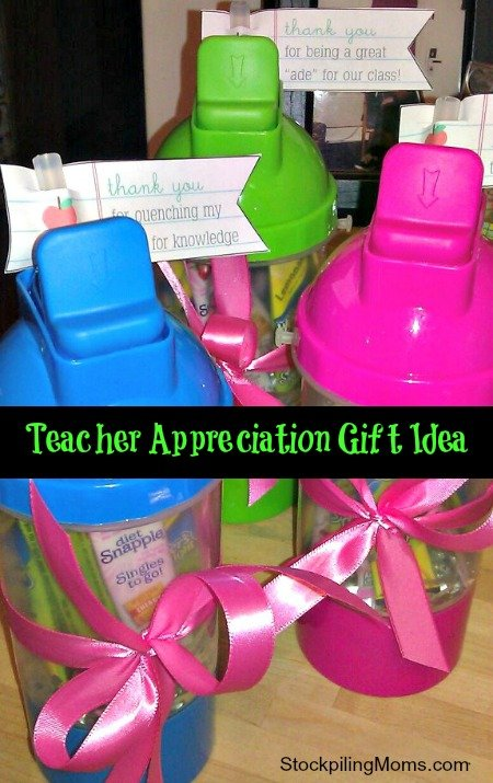 Inexpensive Teacher Appreciation Gift Idea