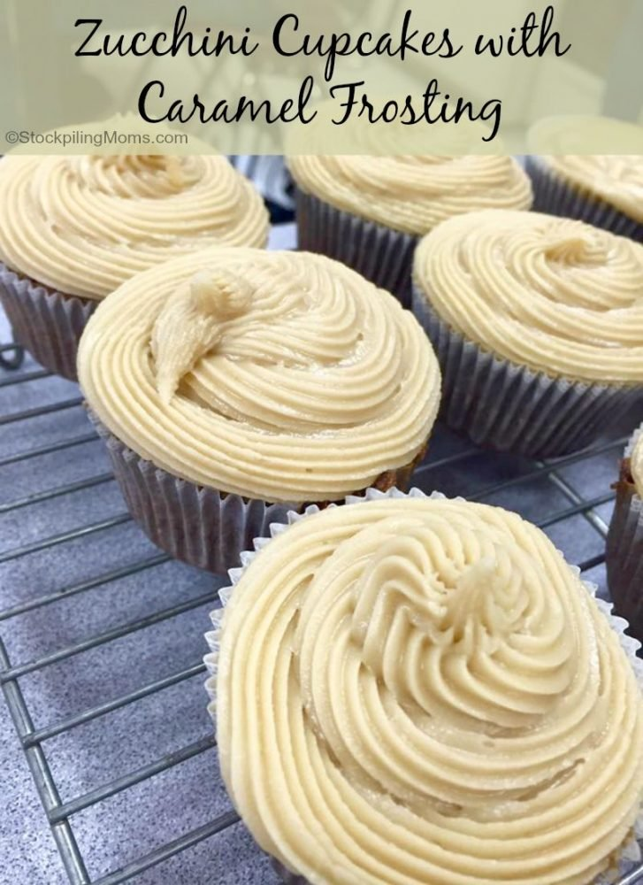Zucchini Cupcakes With Caramel Frosting
