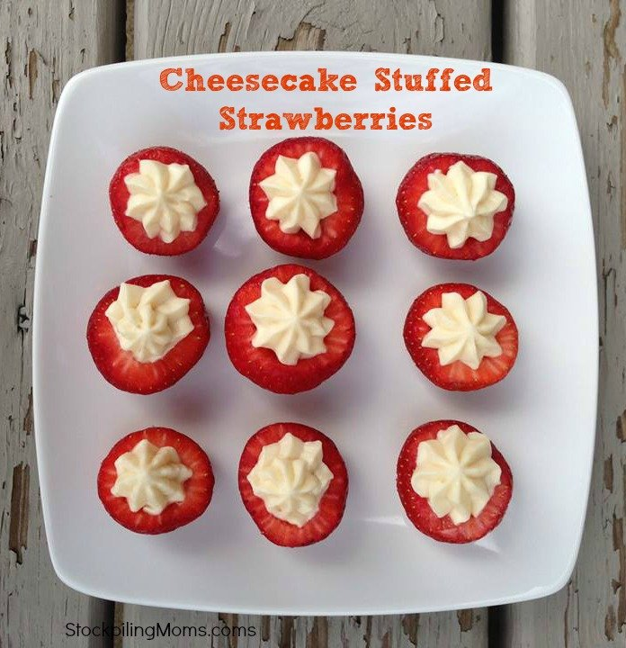 Cheesecake Stuffed Strawberries are light and delicious.  You will love this easy to make dessert!