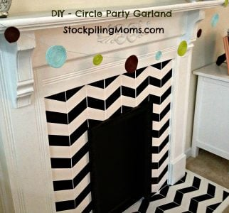 DIY Circle Party Garland