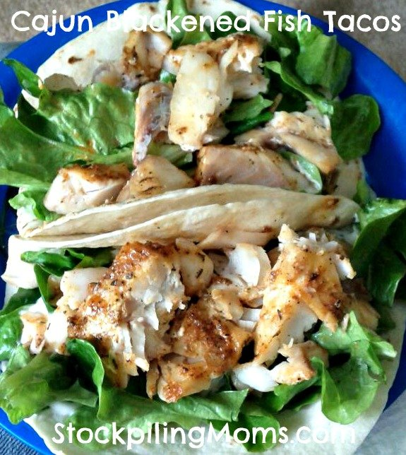 Cajun Blackened Fish Tacos are easy to prepare and taste amazing!
