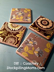 You can create one of kind coasters that will make a great gift!