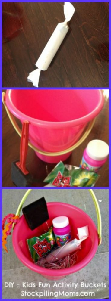 DIY Kids Fun Activity Buckets - The Perfect Birthday Party Favor or an alternative Easter basket!
