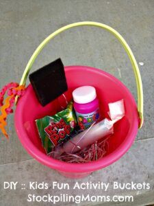 DIY Kids Fun Activity Buckets - The Perfect Birthday Party Favor