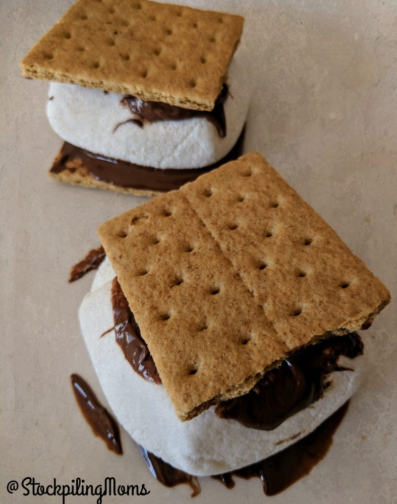 Too cold for S'mores? Think again! Check out this easy and delicious recipe for Microwave Chocolate Hazelnut S'Mores!
