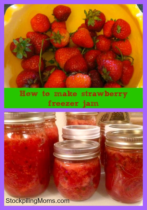 How to make strawberry freezer jam. This is the best recipe to make every summer!