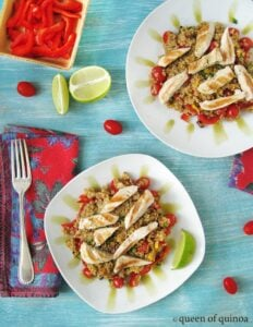 Mexican Style Quinoa with Grilled Chicken