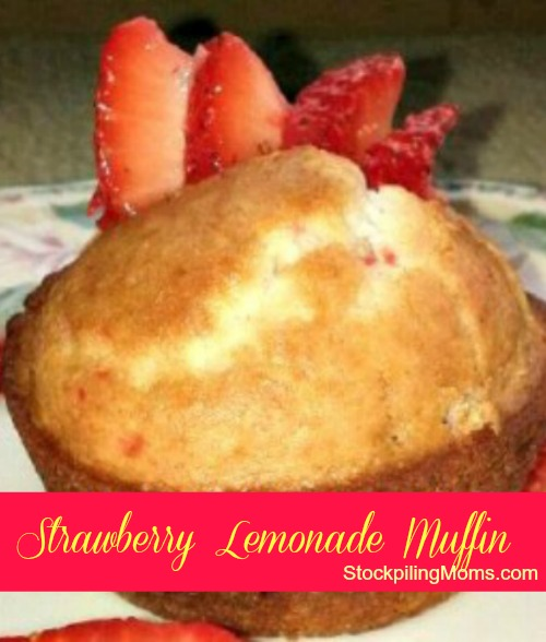 The perfect way to start your day is with Strawberry Lemonade Muffins. They are delicious!