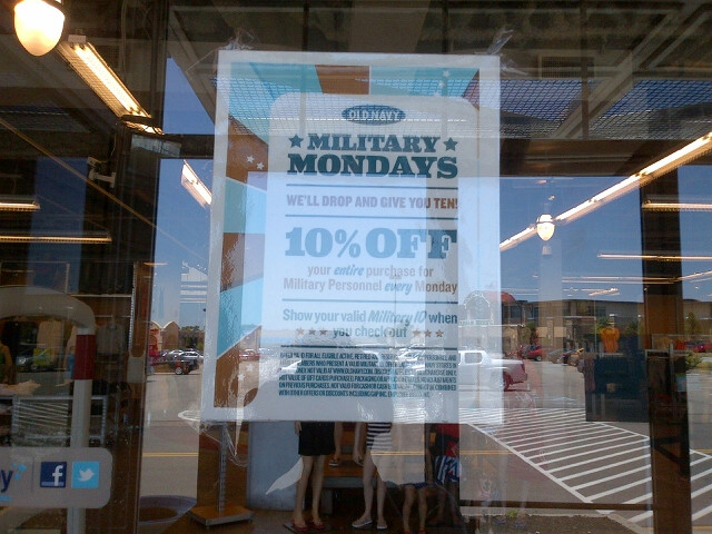 Old Navy 10% off Military