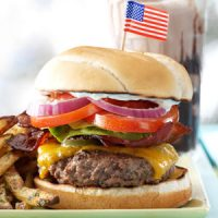 Originally published as All-American Hamburgers in Simple & Delicious June/July 2010, p42