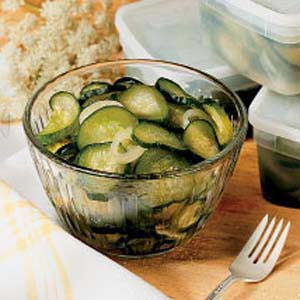 Freezer Cucumber Pickles Recipe