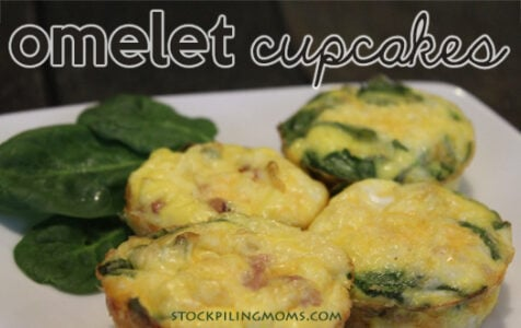 Omelet Cupcakes are a portioned control breakfast that is easy to take on the go!