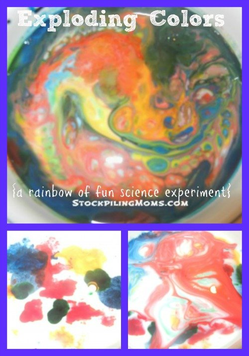 Exploding Colors A Rainbow of Fun Science Experiment #Kids #Summer #Fun