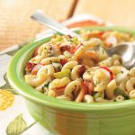 Originally published as Hot Bacon Macaroni Salad in Country Extra July 2009, p51