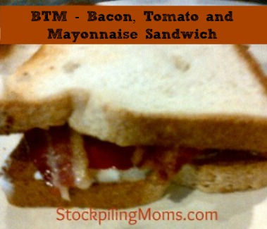 BTM  Bacon, Tomato and Mayonnaise Sandwich