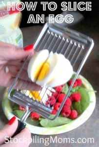 How to slice an egg with a cheese slicer