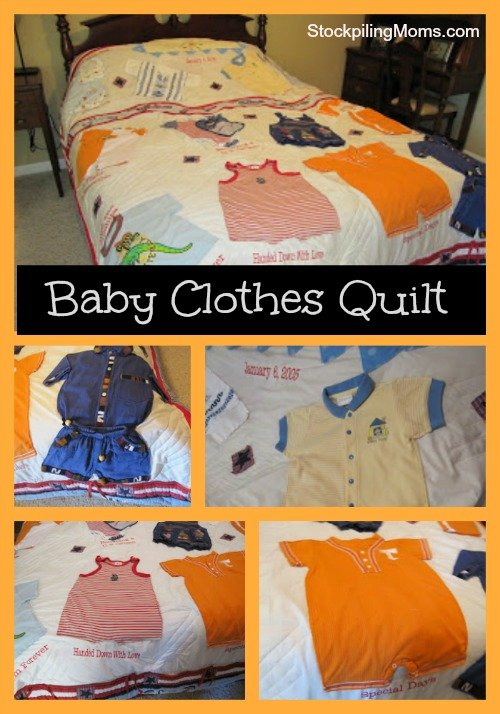 baby clothes quilt collage