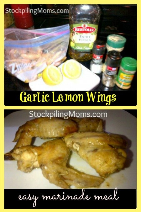 garlic lemon wings