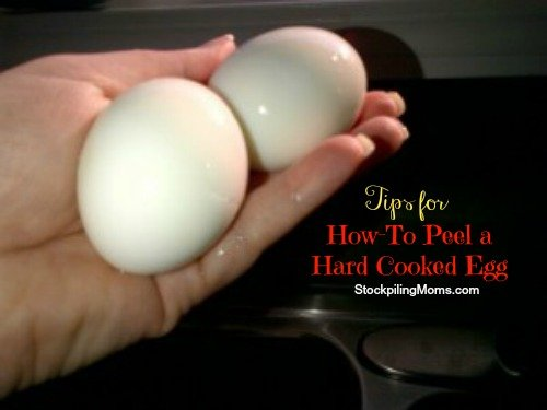 how to peel a hard cooked egg