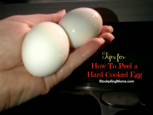 How to peel a hard cooked egg without making a mess of your eggs!