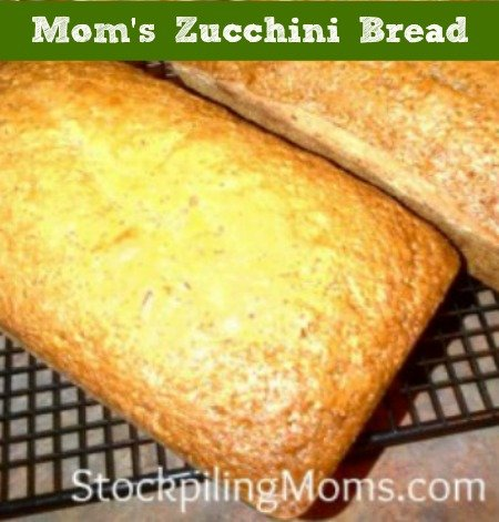 Mom's Zucchini Bread is a delicious and moist recipe that will be a hit with your family for sure!