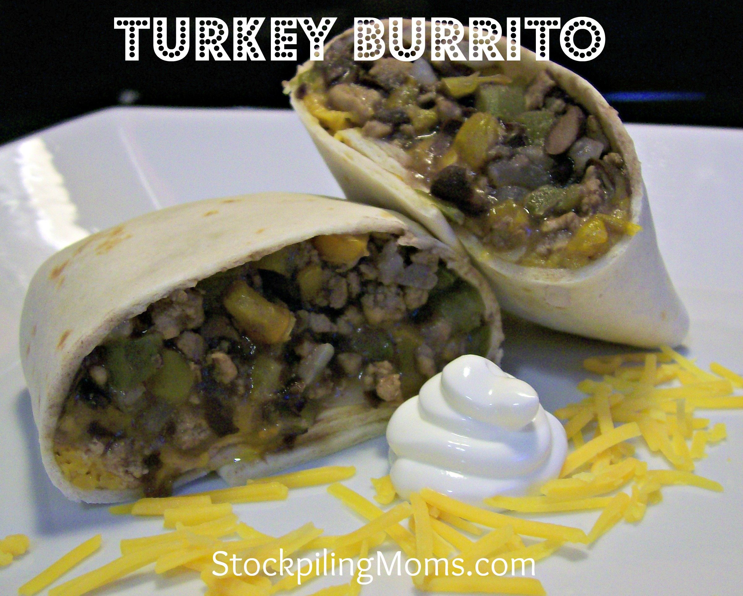 Turkey Burritos are an easy recipe that sneaks in a few veggies into your families diet!