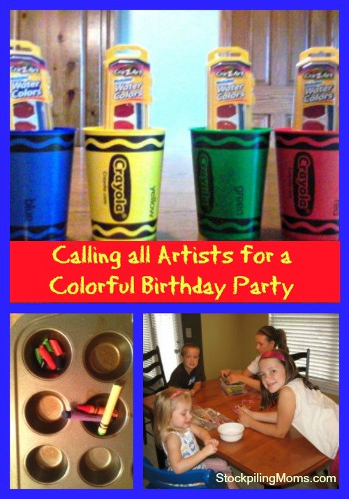 Calling all Artists for a Colorful Birthday Party