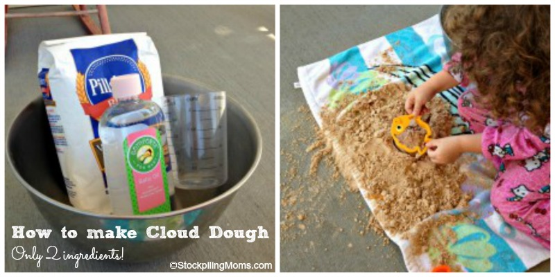 DIY How to Make Cloud Dough