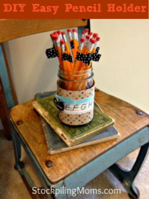 DIY Easy Pencil Holder