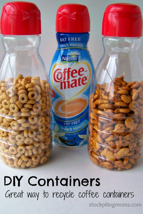 Recycle Coffee Creamer Containers for Pantry Organization