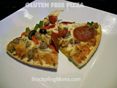 Gluten Free Pepperoni and Sausage Pizza